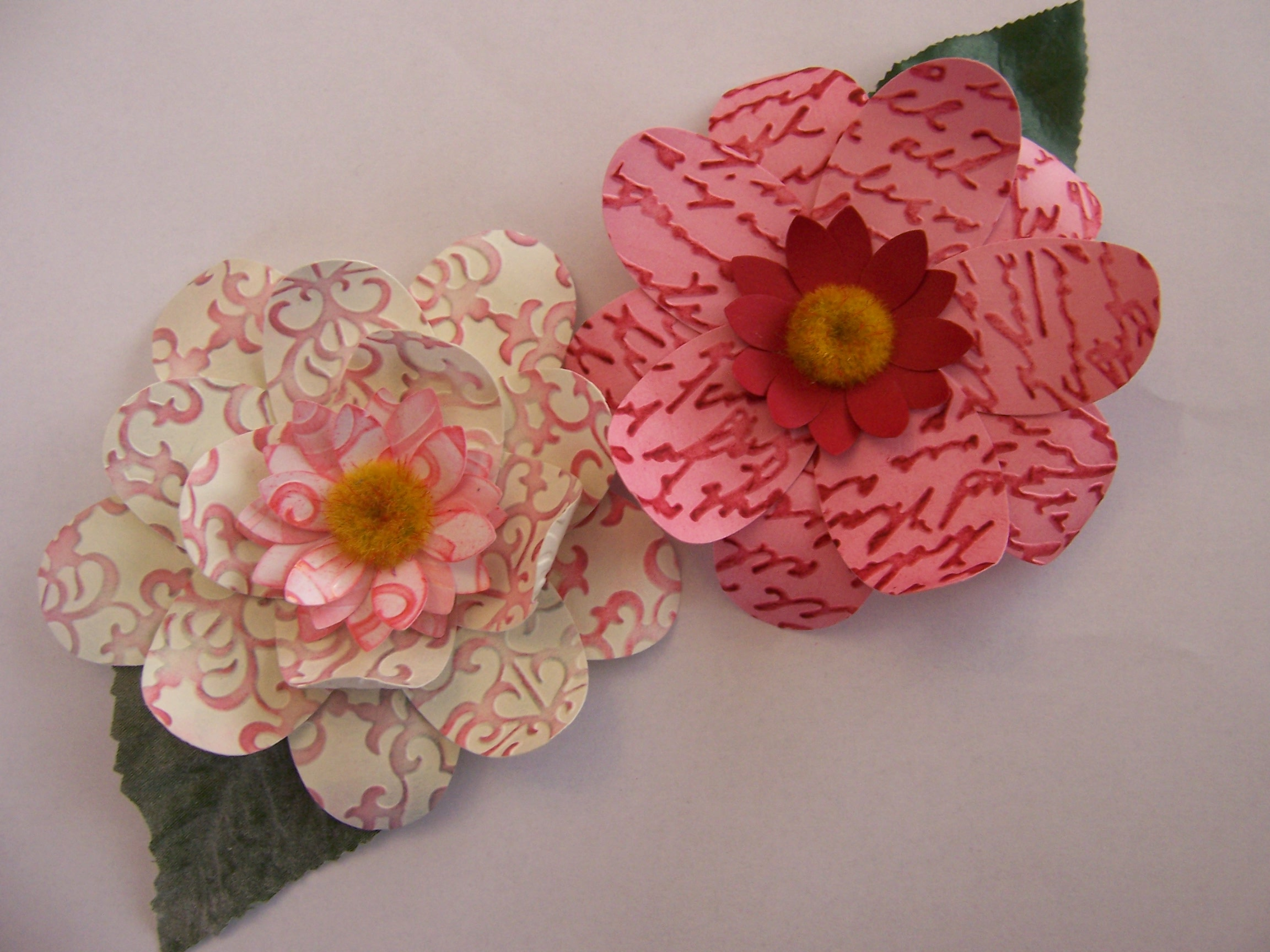 How To Make Beautiful Flowers Using Craft Punches An American In