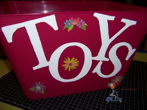 DIY toy bin