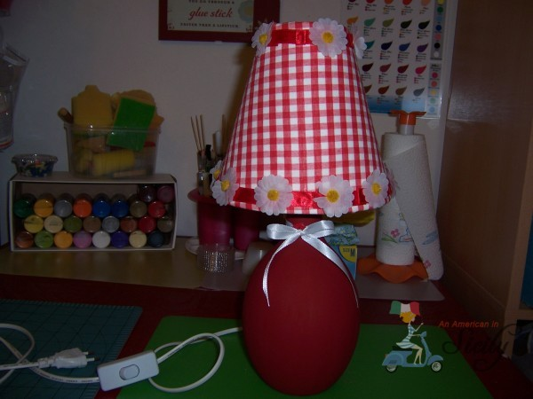 decorate a lamp