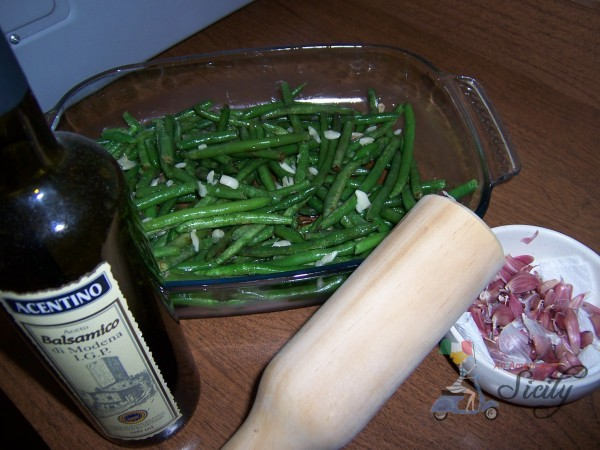 string beans with chicken and rice