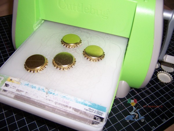 cuttlebug bottle caps